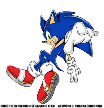 SA Style- Sonic The Hedgehog by VioletChiko