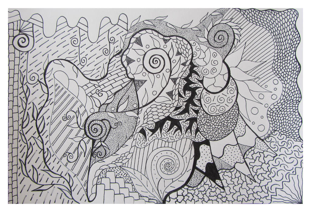 Abstract Drawing 38 by Butterflyjody