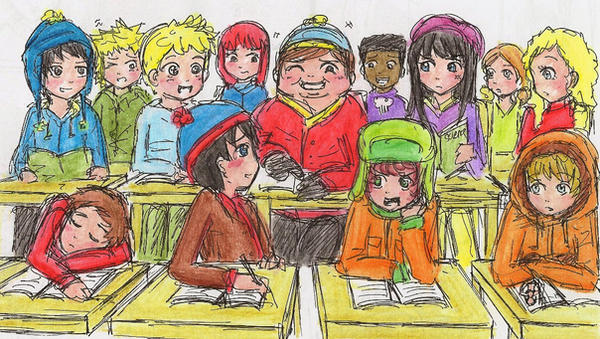 SP: everyday classroom by FioLoX