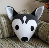 Husky Pillow v2 by melkatsa