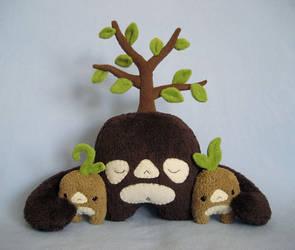 Tree-Top Family by melkatsa