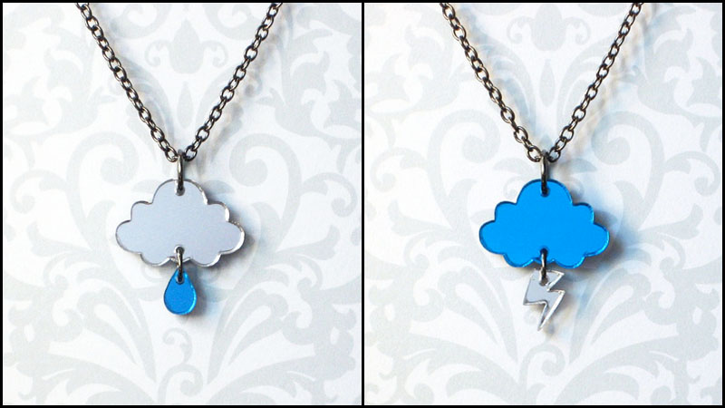 Rainy Day and Stormy Night Necklaces