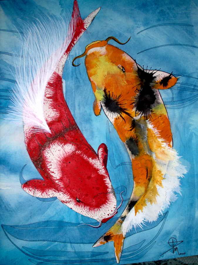 Brand-new Yin-Yang Koi by water-illustrator on DeviantArt MG15