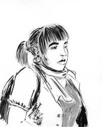 Cathy portrait  by Fideldurana