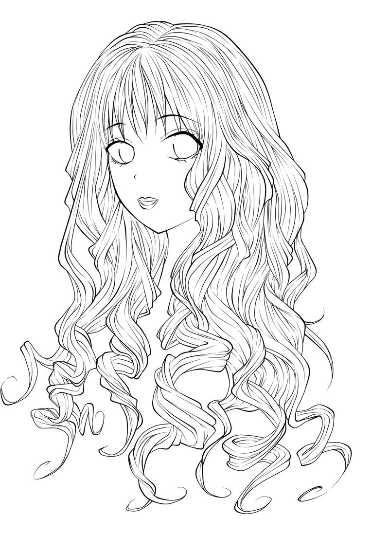 Line Art Girl : Girl lineart by kohane chan on deviantart