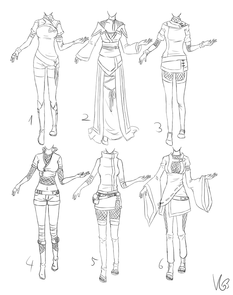 Ninja-ish outfits... by Kohane-chan on DeviantArt