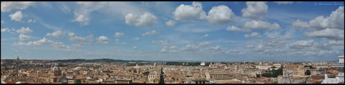Rome Panoramic View by AlexDeeJay