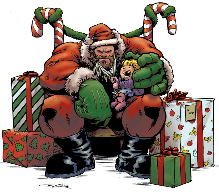 Zangief Santa by streetfighterart