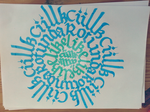 Ciillk Snowflake Calligraphy Calligram