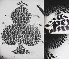 Clubs Calligraphy Calligram (2/4)