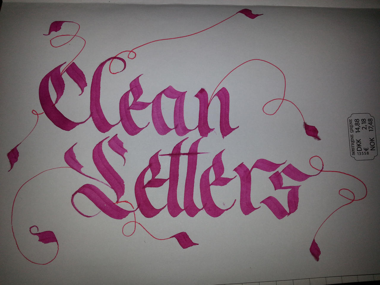 Clean letters calligraphy by milenist on deviantart