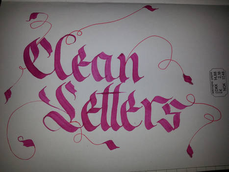 Clean Letters Calligraphy
