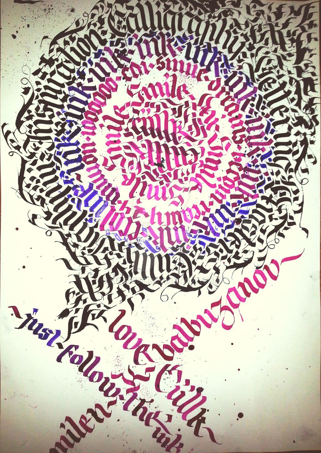 Ciillk Calligraphy Lettering Calligram by Milenist