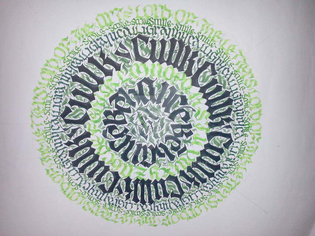 Lord of the Letters Calligraphy Calligram by Milenist
