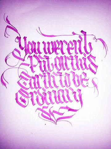 Calligraphy by Milenist