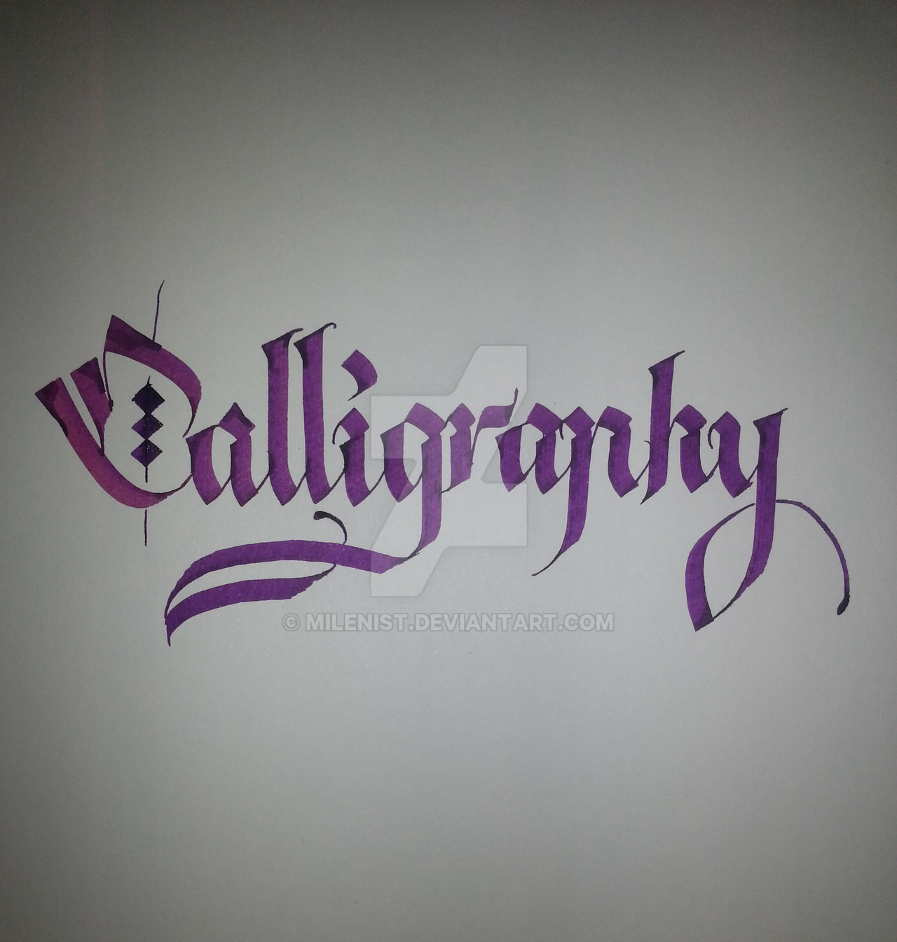 Calligraphy done with pilot parallel pen 60mm by for Calligraphy pen letters