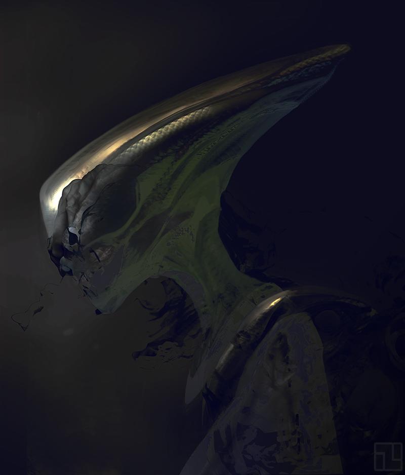 Alien Head by INITZS