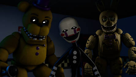 ask the fredbear puppet and spring bonnie