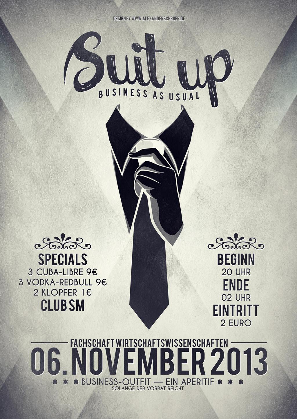 Poster Suit up A6 by calor-design