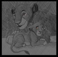 Sarabi Comforts Simba by Ashpri