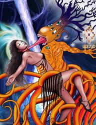 Bai Ling and Nyarlathotep by JohnFarallo