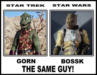 Bossk and the Gorn  are the same guy!!! by JohnFarallo