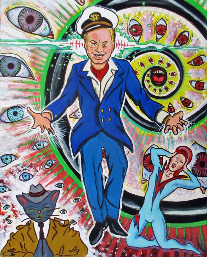 L. Ron Hubbard Verses David Bowie Warlock Battle! by JohnFarallo