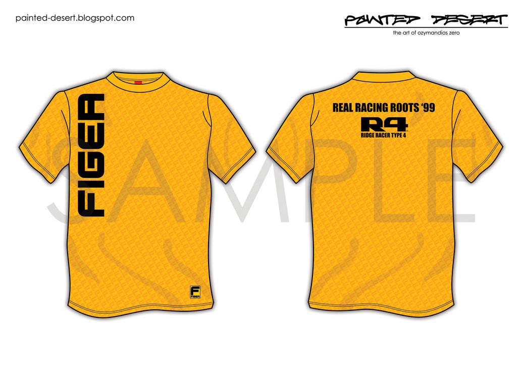 Ridge racer 4 figer promo tee by organiczero on deviantart for Sponsor t shirt design