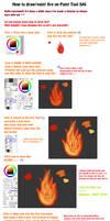 Paint Tool SAI Fire Tutorial