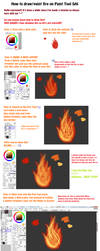 Paint Tool SAI Fire Tutorial by MonstarGaby