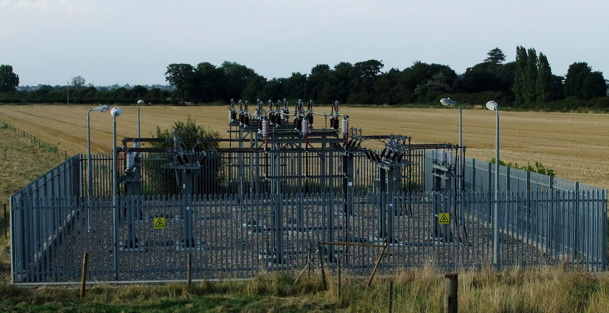Power sub-station by fuguestock