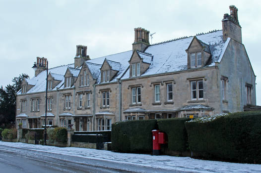 Victorian Terrace in Snow 01