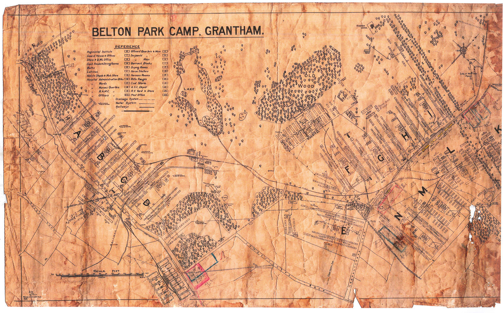Old Map - WWI army camp by fuguestock