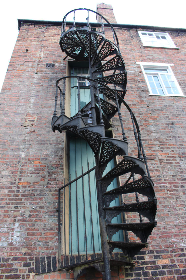 Metal helix stairs 2 by fuguestock on deviantart for Pre made spiral staircase