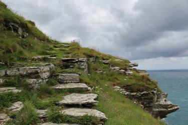Rugged Coastline 11 - Cliff Steps by fuguestock