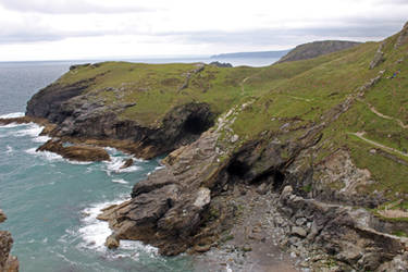 Rugged Coastline 09 - Caves by fuguestock