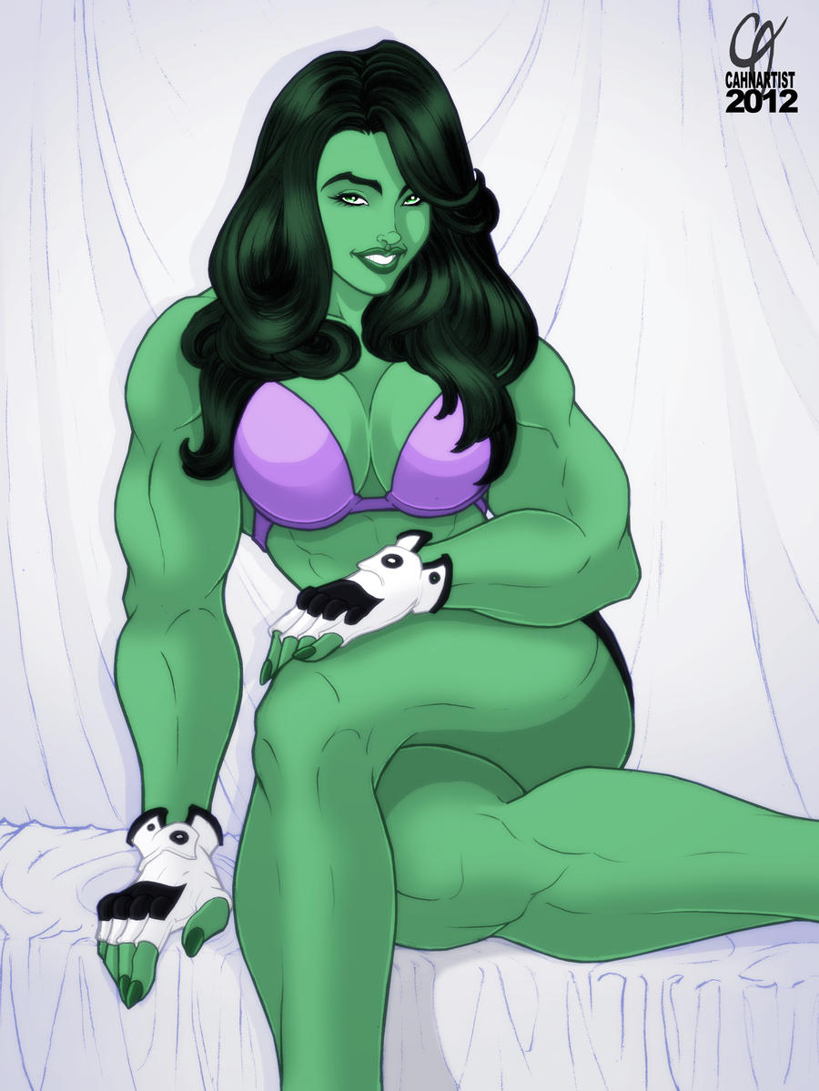 She-Hulk Pinup by Cahnartist