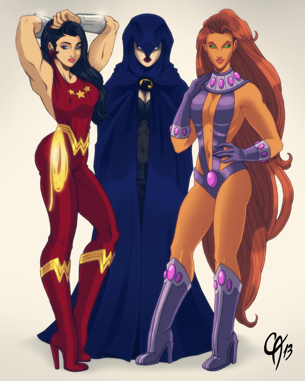 Titans Women by Cahnartist