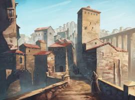 Medieval old city concept by JeSSanchez