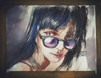 161021 Girl Portrait Watercolor by JeSSanchez