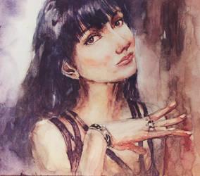 161212 Watercolor Portrait by JeSSanchez