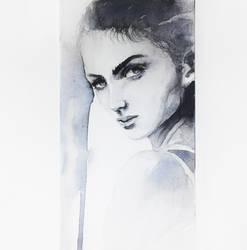 161214 Portrait Watercolor study by JeSSanchez
