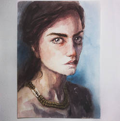 161219 Girl Portrait Watercolor study