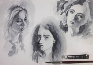 170423 Girl Portrait Studies BN