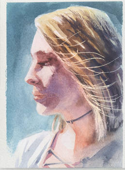 170715 Watercolor portrait study