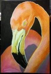 Island Dreams 4 x 6 #2 Flamingo