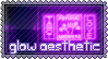 glow aesthetic stamp
