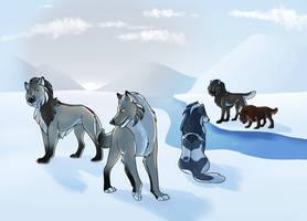 Frozen Landscape Collab by RoarTigerRoar
