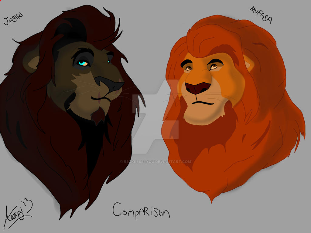 Lion king mufasa and simba drawing