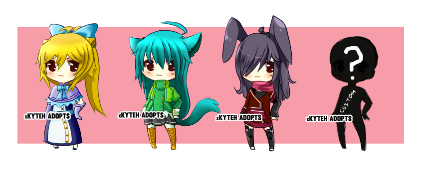 Kemonomimi Adoptables - OPEN by xKyteh